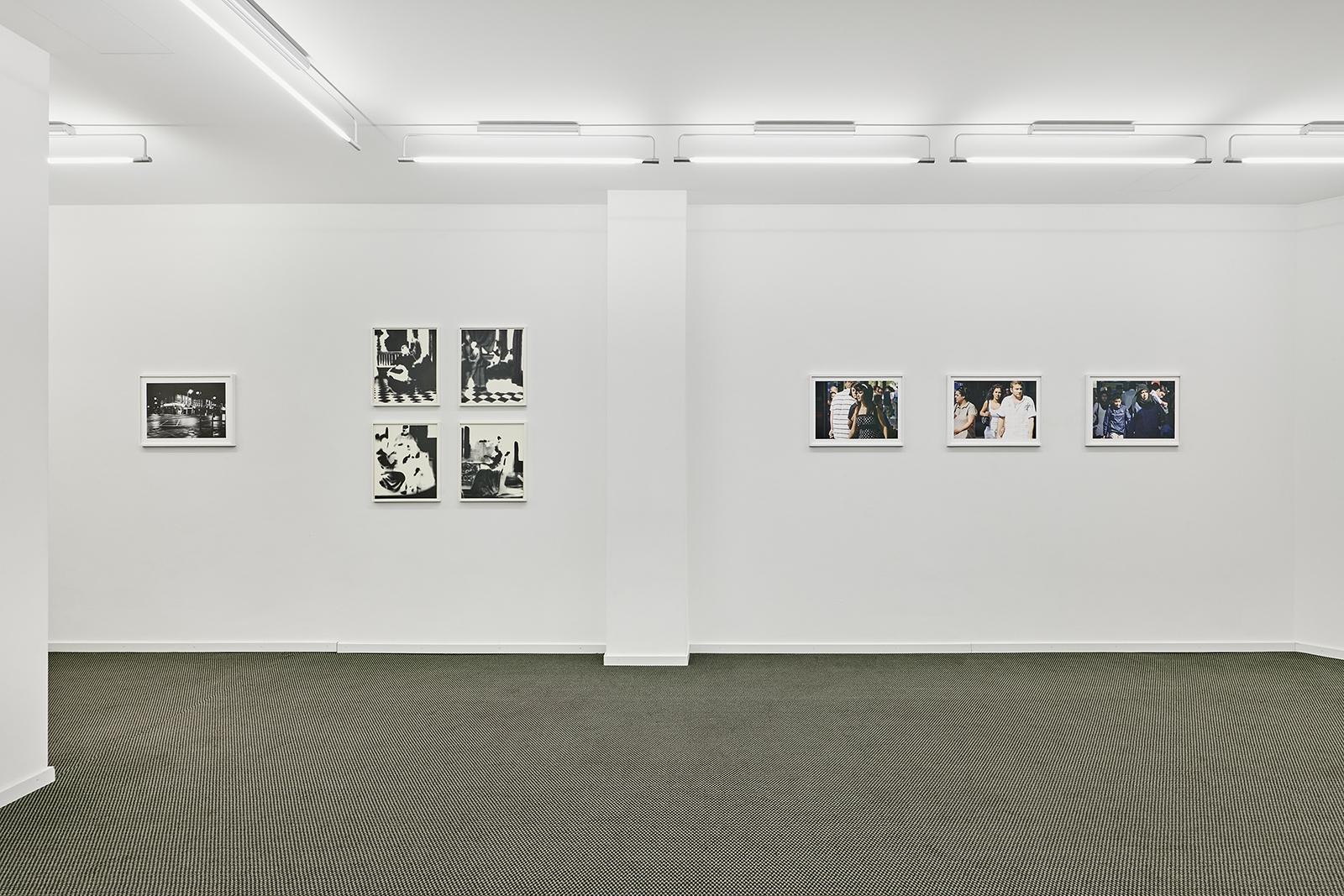 Ausstellungsansicht Georg Gatsas, Uwe Wittwer, Beat Streuli