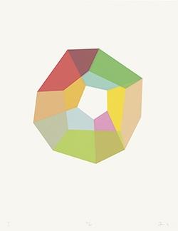 "Beat Zoderer, ""DODES´KA-DEN I"", 2016. Siebdruck"